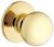 Click to swap image: Bala Knobset Dummy Knob Polished Brass