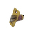 Click to swap image: 60mm Fixed Backset Fire Rated Deadlocking Latch Polished Brass