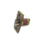 Click to swap image: 60mm Fixed Backset Fire Rated Deadlocking Latch Antique Brass