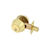 Click to swap image: Light Commercial Double Cylinder Deadbolt Polished Brass