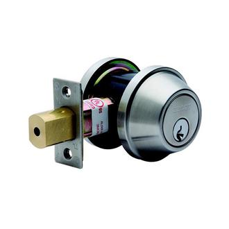 Heavy Commercial Double Cylinder Deadbolt Satin Stainless Steel