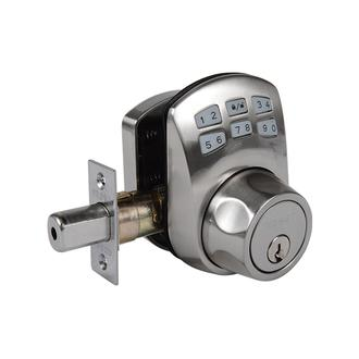 Keypad Deadbolt Manual Drive Satin Nickel