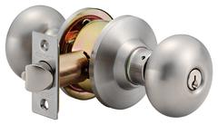 Olympus Knobset Entrance Lock Satin Stainless Steel