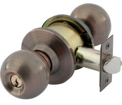 Bala Knobset Double Key Entrance Lock 127mm Backset