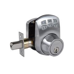 Keypad Deadbolt Manual Drive Satin Chrome